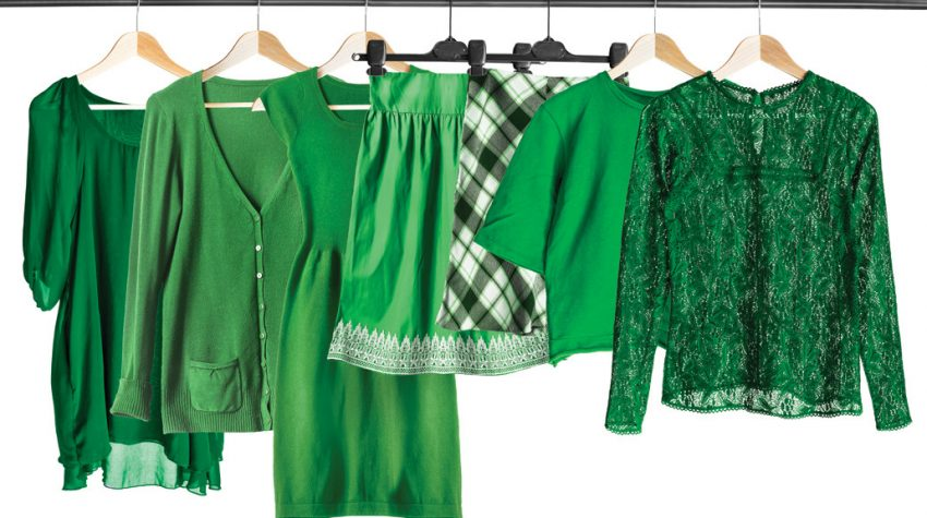 How to wear the color of the year, Greenery